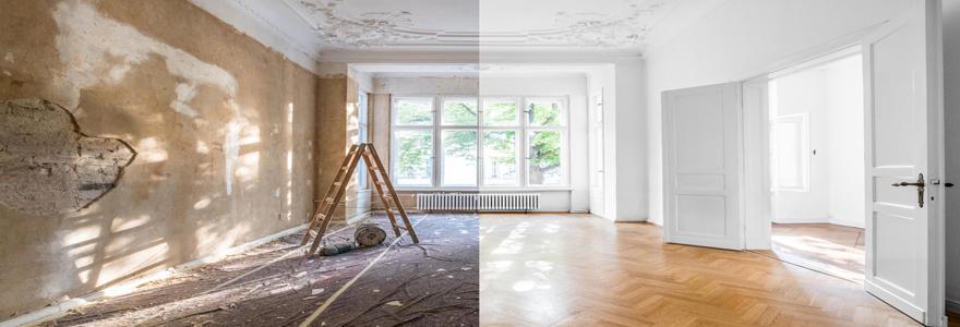 Travaux de rénovation intérieure et solutions d'agencement