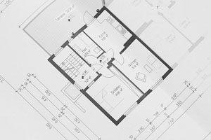 plan après devis travaux pour la construction d'une maison